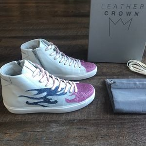 """New Leather Crown """"WFire"""" Sneakers"""